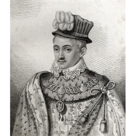 Henry Stewart Lord Darnley Also Stuart 1545 - 1567 Cousin & Second Husband of Mary Queen of Scots Father of James I of Poster Print, 13 x 16 - image 1 de 1