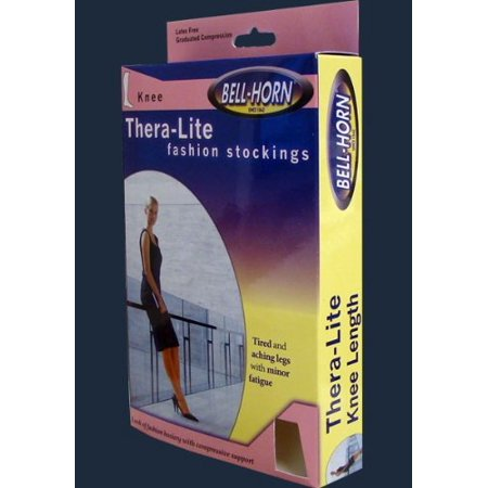 Bell Horn Thera-Lite Compression Pantyhose 15-20 mmHg Size E in Black,  Tired Aching Legs By BellHorn