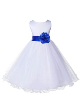 18eeabe8811 Product Image Ekidsbridal Satin White Horizon Tulle Rattail Christmas Party  Bridesmaid Recital Easter Holiday Wedding Pageant Communion Princess