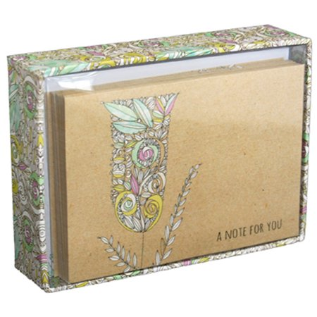 Pictura Funky Flowers Box of 14 Blank Note Cards