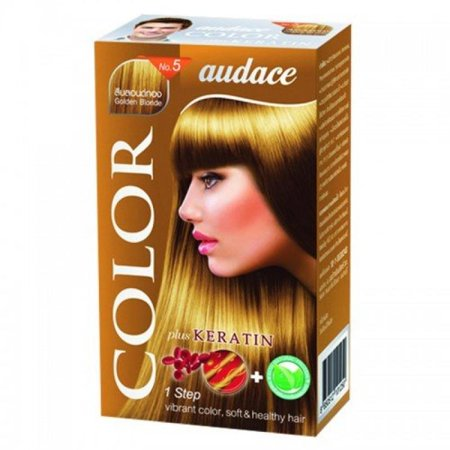 audace hair color cream no 5 golden blonde color walmart com