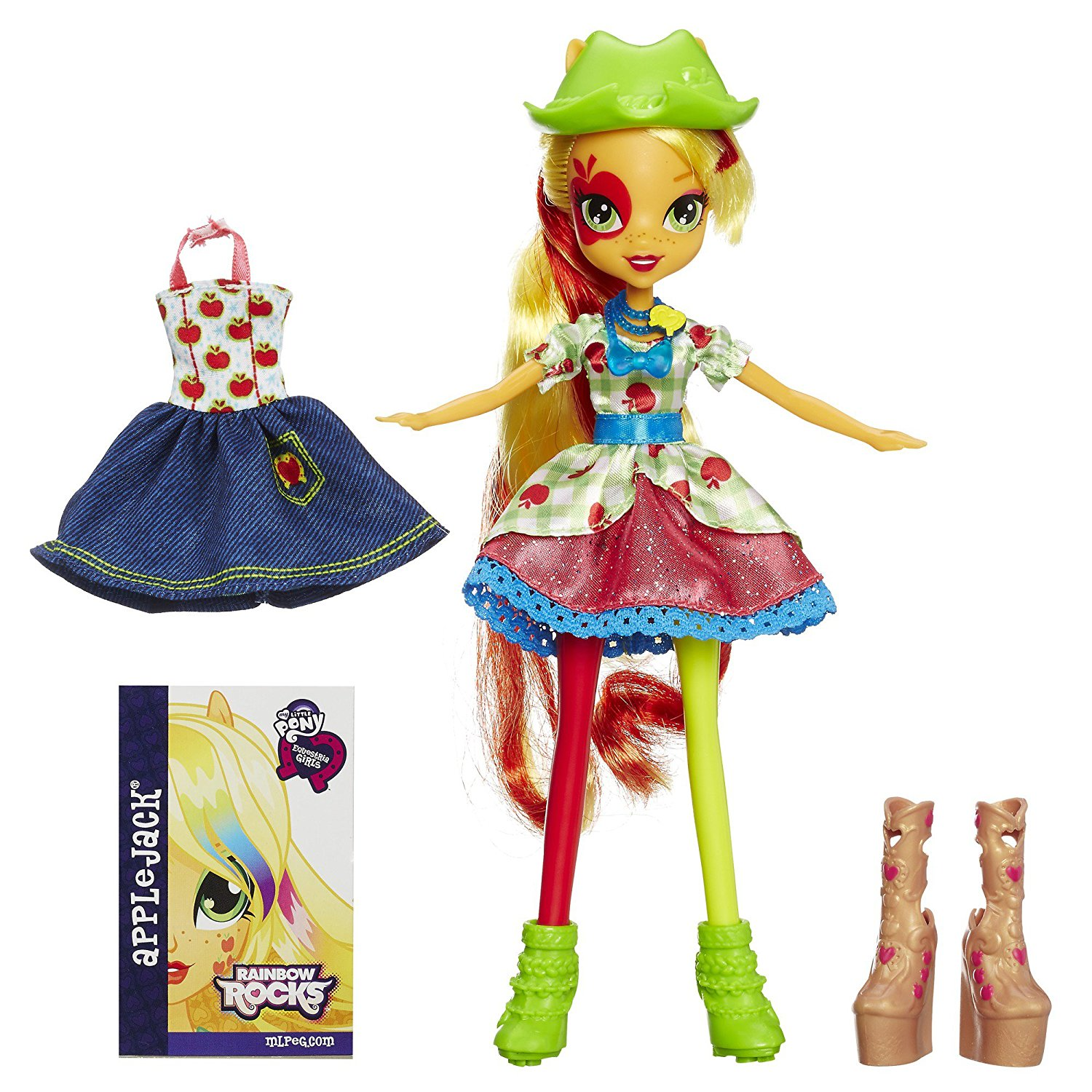 Equestria Girls Rainbow Rocks Applejack Doll with Fashions, Equestria Girls doll is a rockin' concert girl By My Little Pony Ship from US