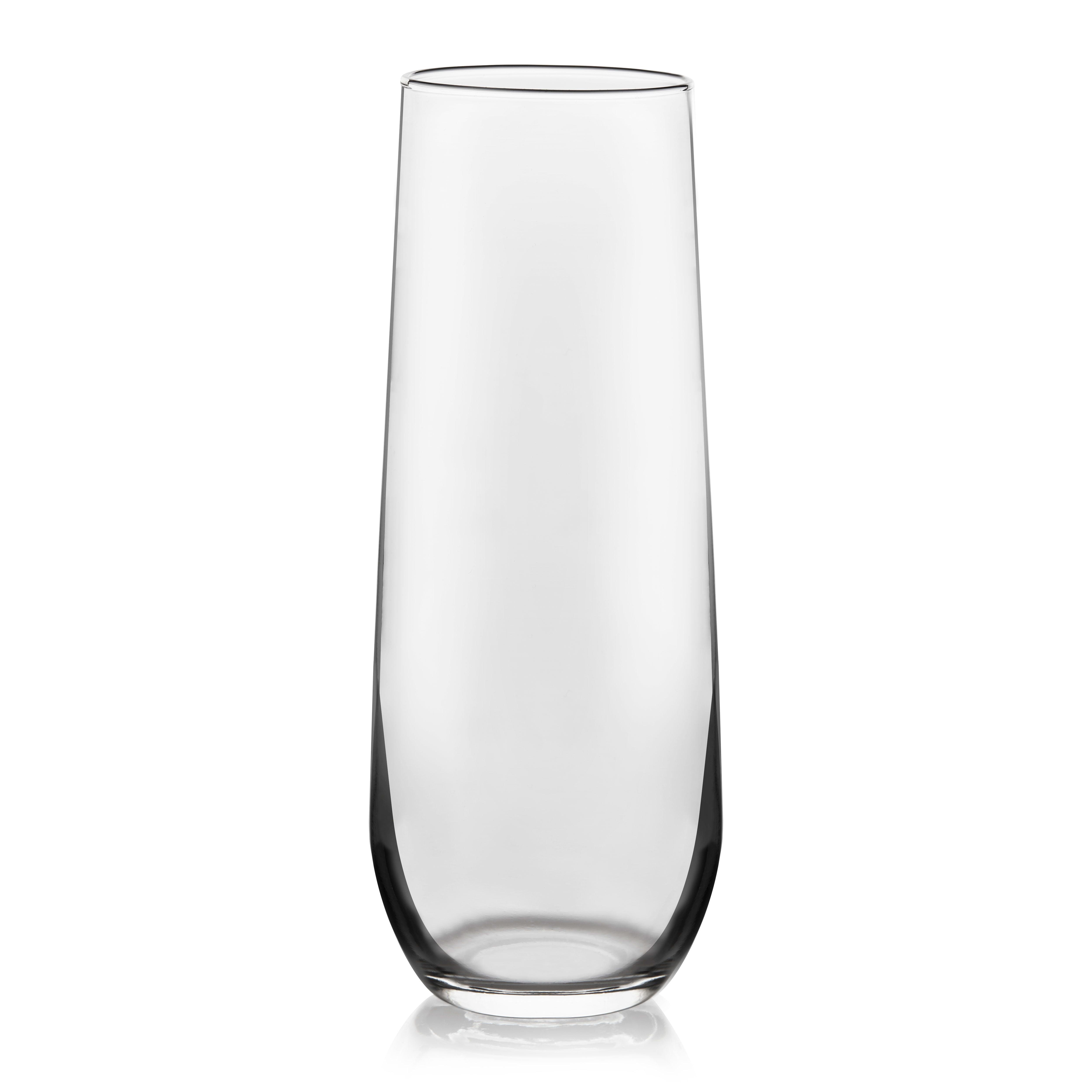 BLACK LABRADOR 2 TALL LONG SLIM DRINK HEAVEY BASE GLASSES