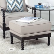 Studio Designs Colonnade Spindle Ottoman, Dark Taupe and Latte