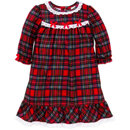 4dc8f1721 Little Me Christmas Plaid Night Gown Red Flannel 4T Toddler Holiday  Sleepwear For Baby Girls Winter