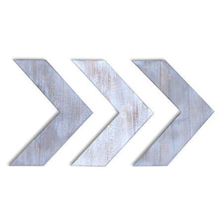 Barnyard Designs Rustic Farmhouse Chevron Arrows Wood Wall Decor 14.25