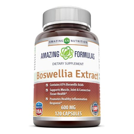 Image of Amazing Formulas Boswellia Extract - 600mg (Standardized to contain 65% Boswellic Acids),120 Capsules