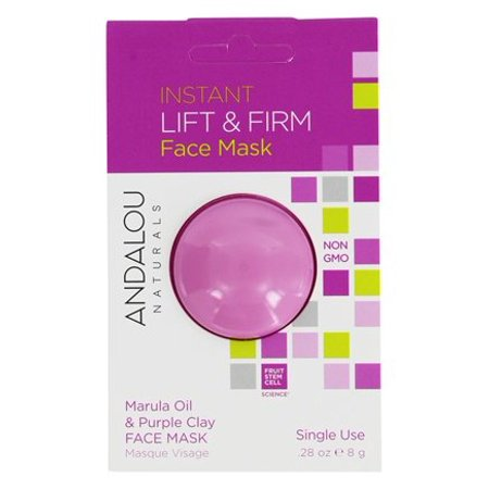 - Instant Lift & Firm Clay Face Mask Marula Oil & Purple Clay - 0.28 oz. by Andalou Naturals (pack of 4)