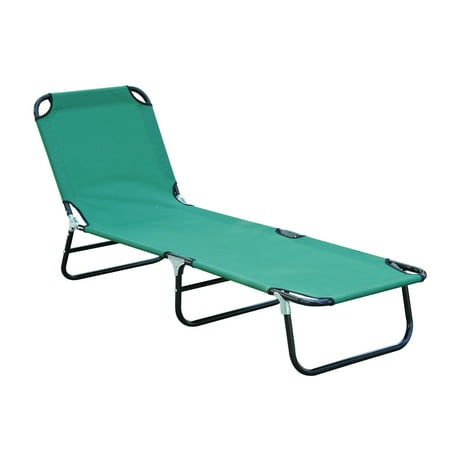 Deluxe Travel Cot (Outsunny Deluxe Folding Adjustable Sun Lounger Camping Cot)