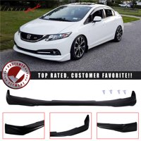 Compatible with 13-15 Honda Civic 4Dr Ikon Front Bumper Lip Spoiler (Urethane)