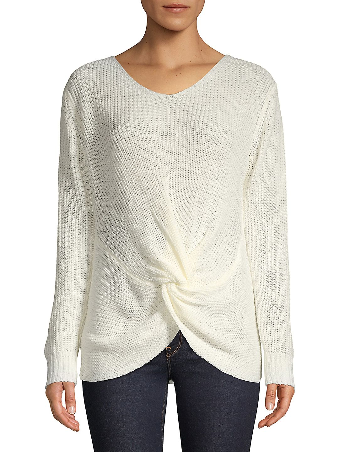 Knotted Long-Sleeve Top