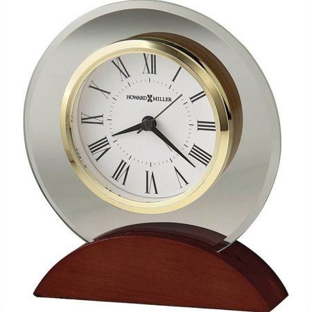 Bowery Hill Table Top Clock in a Satin Rosewood Finish