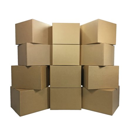 Uboxes Large Moving Boxes, 20x20x15in, 12 Pack, Cardboard Boxes (14x14x24 Cardboard Box)