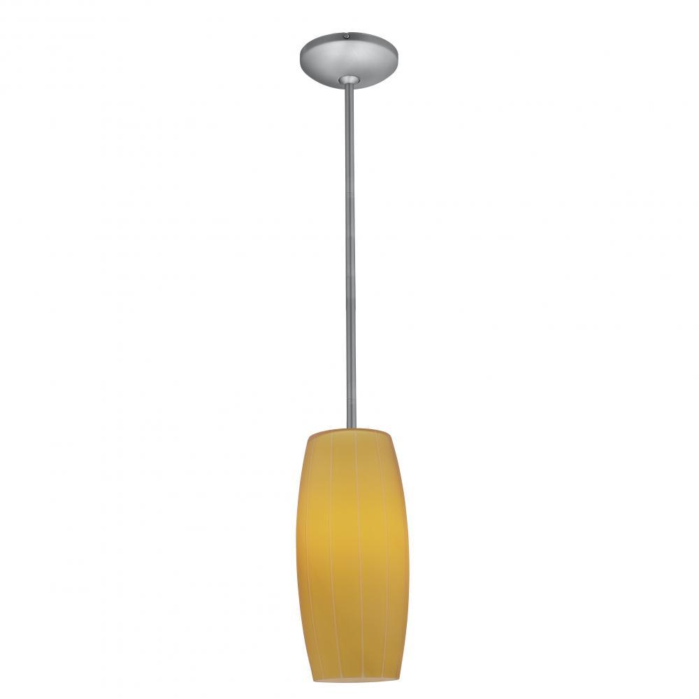 Access Lighting  28070-1R  Pendants  Janine  Indoor Lighting  ;Brushed Steel / Amber