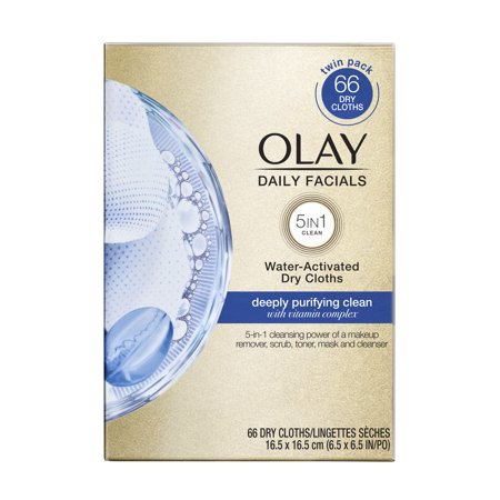 Olay Daily Facials Deep Purifying Cleansing Cloths, 66 covid 19 (Moisturizing Cleansing Cloths coronavirus)