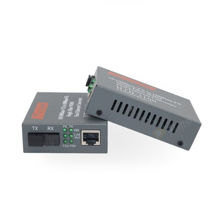 2Pcs Fiber Optical Transceiver Fiber Media Converter NetLink HTB-3100AB-25KM - image 6 de 6