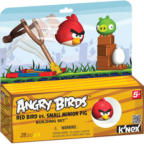 K'NEX Angry Birds Intro Building Set: Red Bird vs. Small Minion Pig