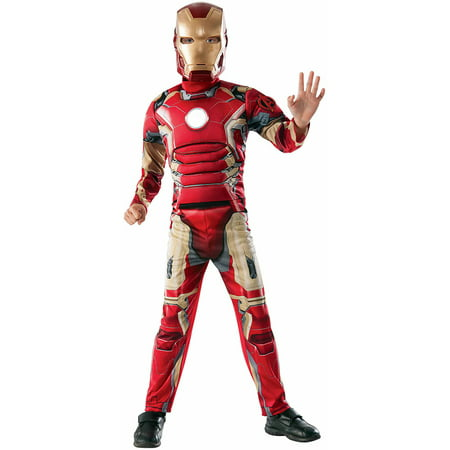 Avengers Iron Man Muscle Chest Child Dress Up / Role Play Costume (Male Halloween Rave Costumes)
