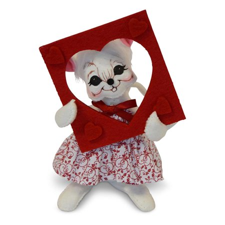 Annalee Dolls 6in 2018 Valentine Picture Perfect Mouse Plush New with Tags