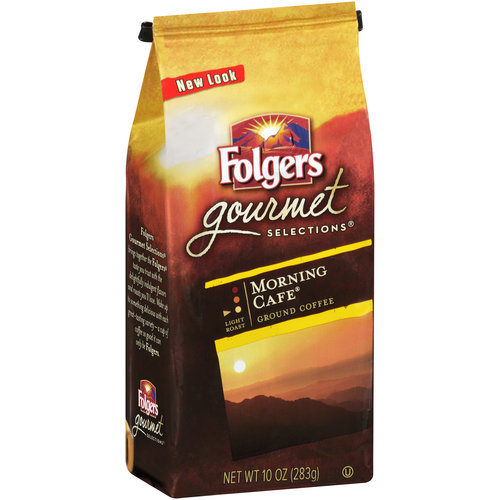 Folgers Gourmet Selections Morning Cafe Ground Coffee, 10 oz