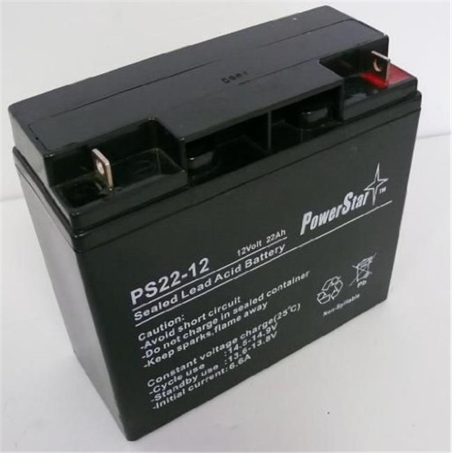 PowerStar PS12-22-223 22Ah Battery For 12V, 18Ah Jump & Carry JNC660 JNCAIR JNC 660 JNC4