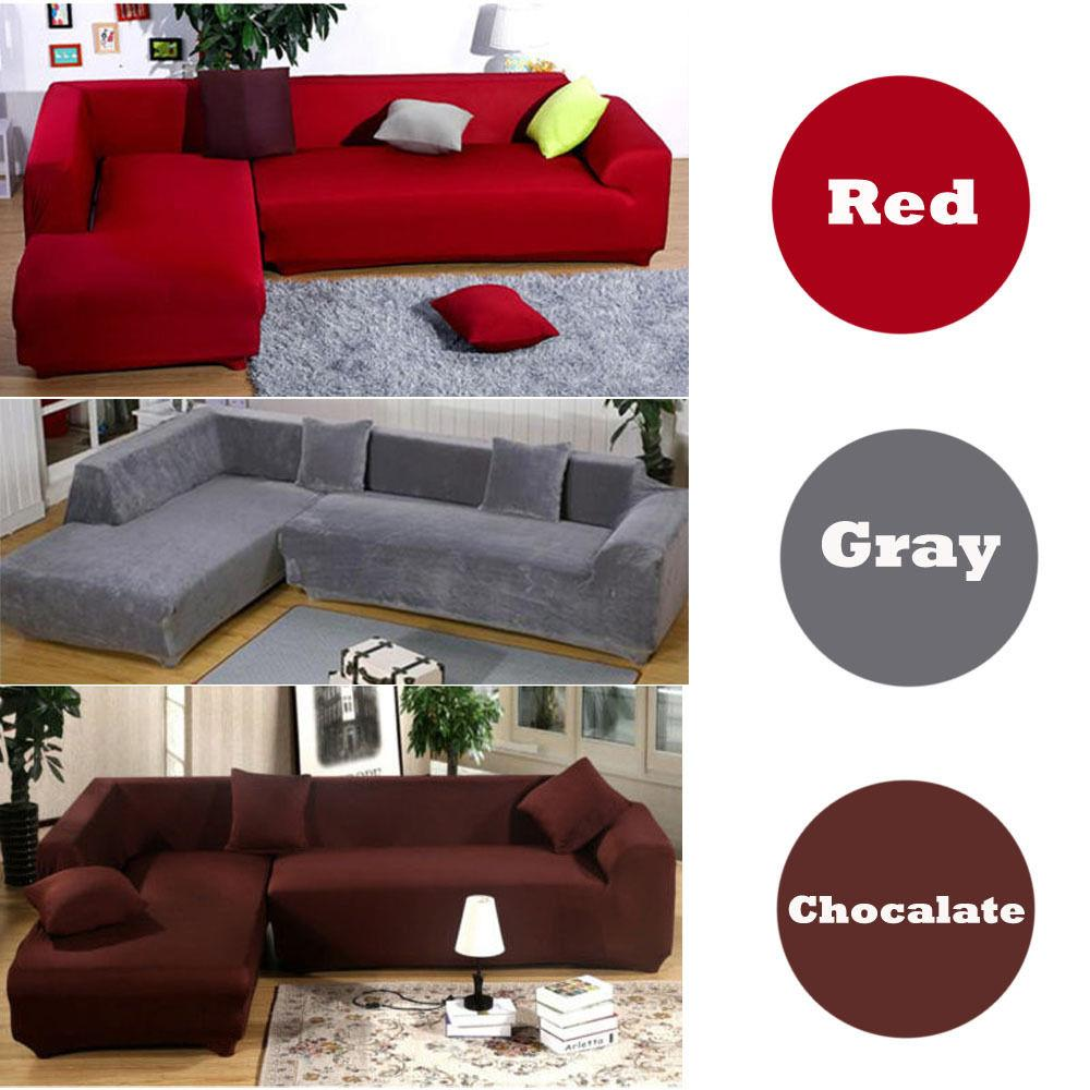 Ktaxon Modern Design L Shape 2+3 Seats Stretch Elastic Fabric Sofa Cover