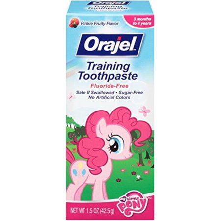 2 Pack - Orajel Toddler My Little Pony Training Toothpaste, Pinky Fruity 1.5 oz