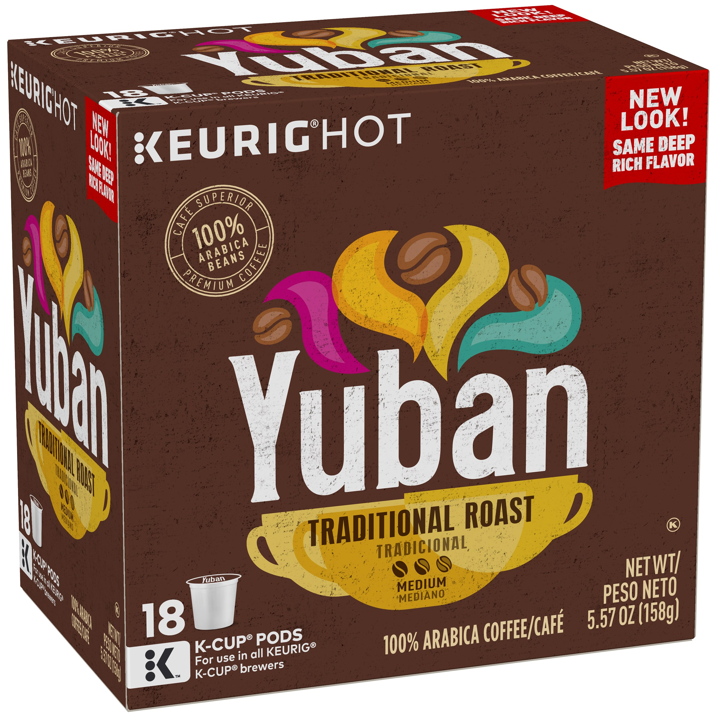 Yuban Gold Medium Original Roast K-Cup Coffee Pods, 18 count, 5.57 oz (158 g)