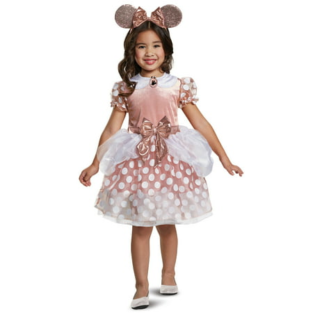 Toddler Girls Rose Gold Minnie Mouse Costume size