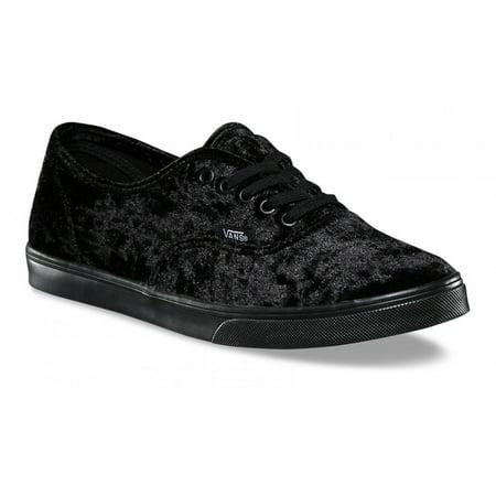 04d919747a70a8 VANS - Vans Authentic Lo Pro Velvet Black Women s Skate Shoes Size 10 -  Walmart.com
