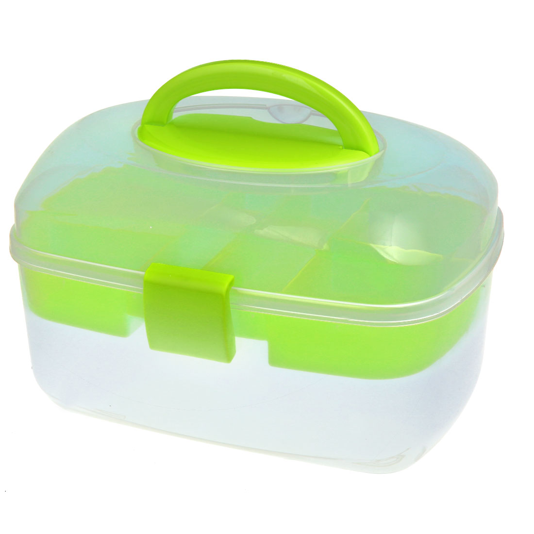 Oval Shaped Empty Nail Art Makeup Cosmetic Tool Container Storage