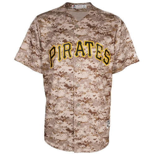 Pittsburgh Pirates Majestic Official Cool Base Jersey - Camo