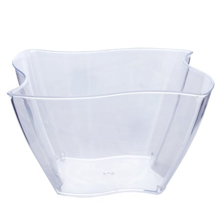 Efavormart 60 Pcs - Clear Curved Pinwheel 4oz Disposable Plastic Dessert Bowl