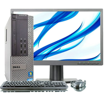 Refurbished Dell Optiplex 790 3.3GHz DC i3 4GB 250GB DVD Win 10 Pro SFF Computer+22