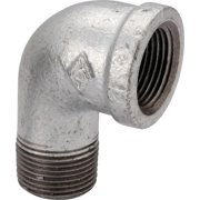 Worldwide Sourcing 6-1-1-2G 1.5 In. Malleable 90 Degrees Street Elbow, Galvanized