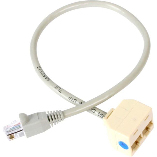 Startech RJ45SPLITTER 2-to-1 RJ45 Splitter Cable, Adapter, F/M