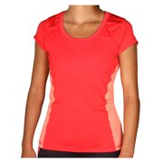 Crivit PRO Women's Running Short Sleeve Top Athletic Performance T-Shirt Coral