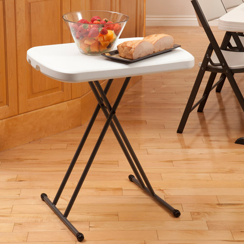 "Lifetime 26"" Personal Folding Table, White Granite"