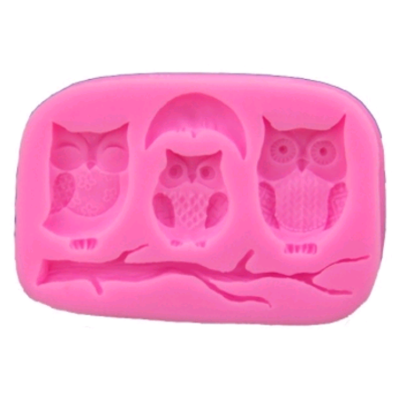 Thomas Cake Mold (On Clearance 3D Silicone Cake Mold Owls Cartoon Chocolate Mold Moon Cake Mould DIY Baking Decorating)