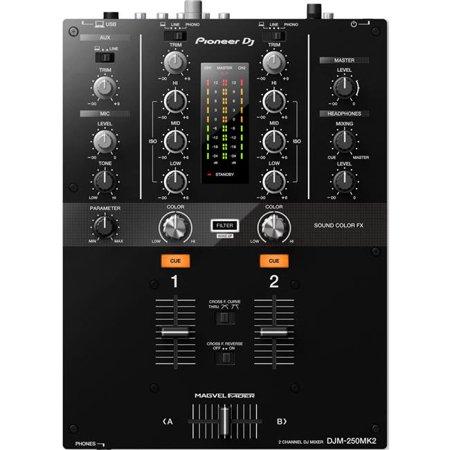 2 Channel Dj Mixer - Pioneer DJM-250MK2 2-Channel DJ Mixer (Black)