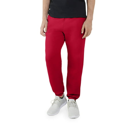 Fruit of the Loom Men's EverSoft Fleece Elastic Bottom Sweatpants