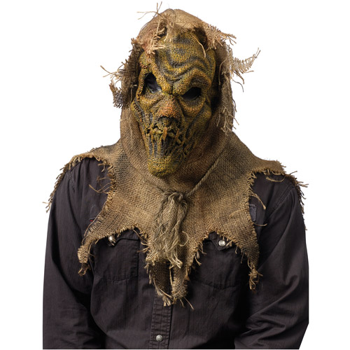 Scarecrow Gunny Sack Natural Mask Adult Halloween Accessory