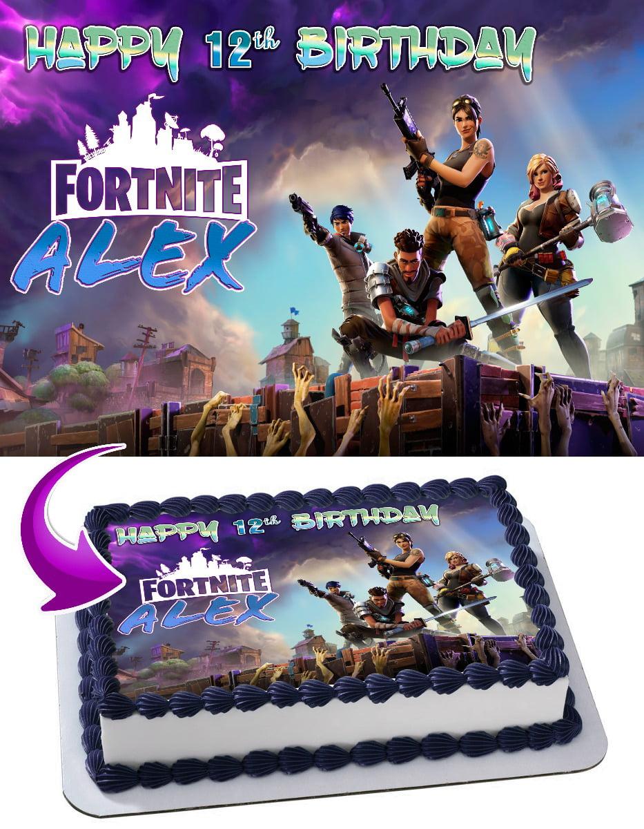 Fortnite Battle Royale Edible Cake Image Topper ...