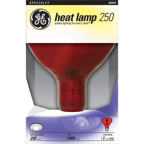 GE Lighting Specialty R40 Red Incandescent Reflector Heat Bulb 90658 NEW