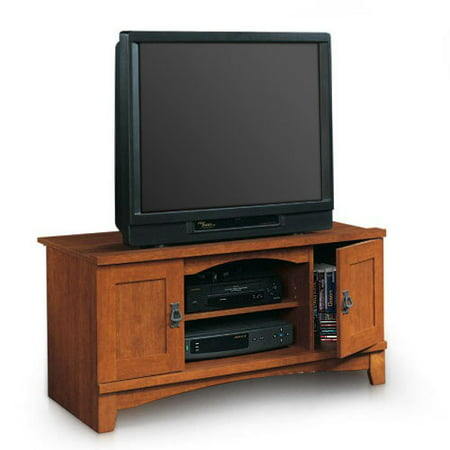 Sauder universal tv stand mission collection for Mission style entertainment center plans