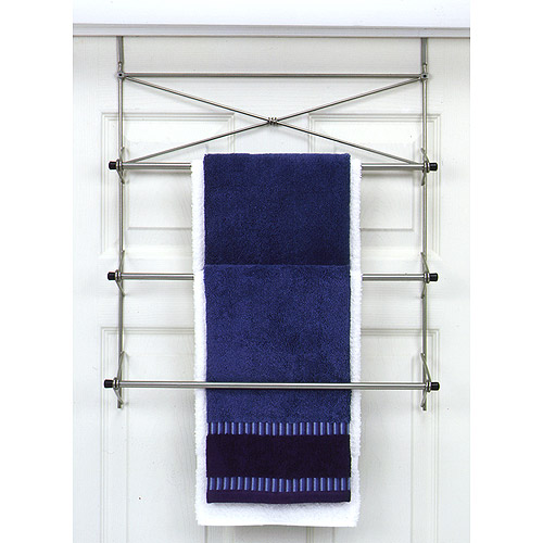 Over-the-Door Bath Towel Holder, Pearl Nickel Finish