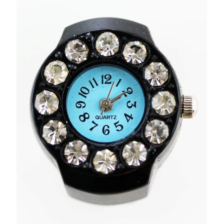 Ring Watch  Black w/ Blue Circle (Witches Ring)