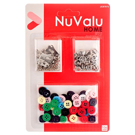 New 330821  Nuvalu Sewing Kit W / Button 76 Pc (24-Pack) Others Cheap Wholesale Discount Bulk Kitchenware Others