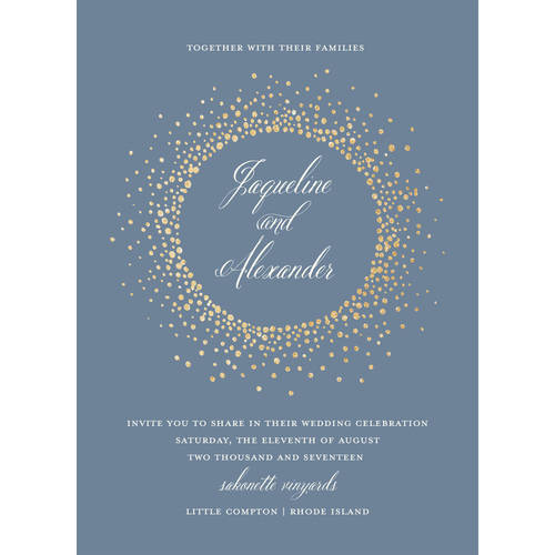 Glamour Burst Wedding Invitation