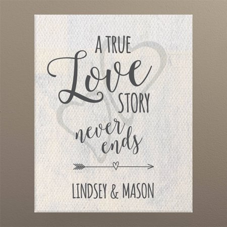 A True Love Story Never Ends Personalized 11